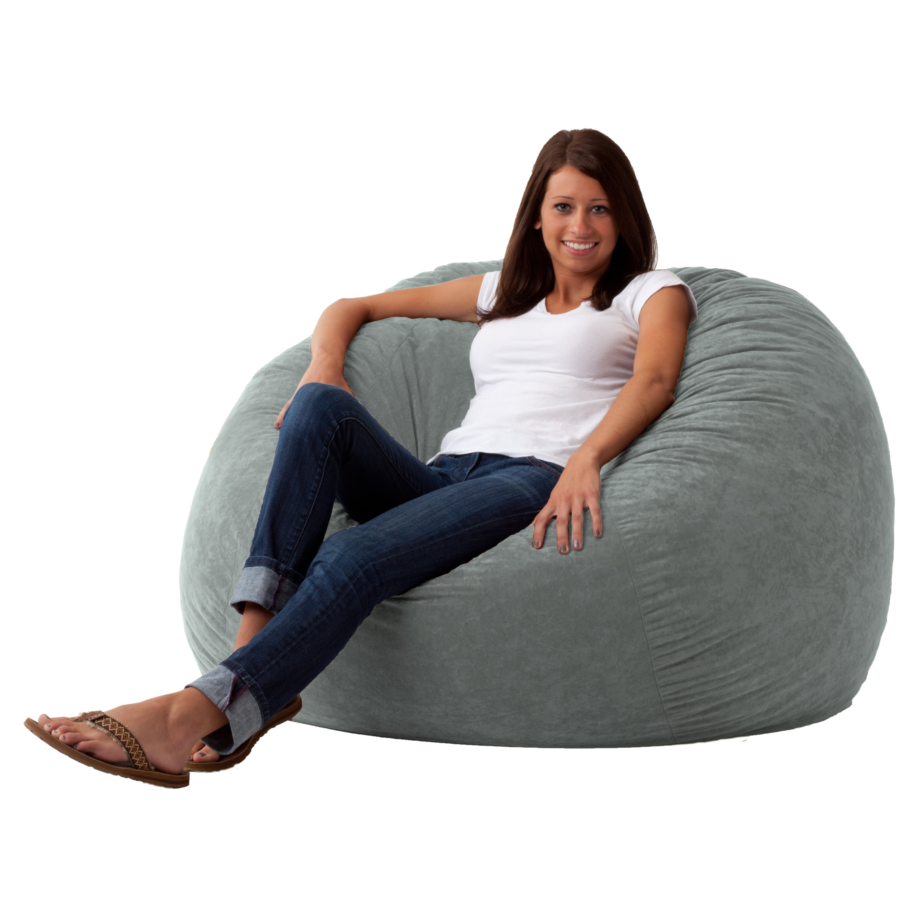 Hayneedle Intended For Well Known Bean Bag Sofas (View 11 of 20)