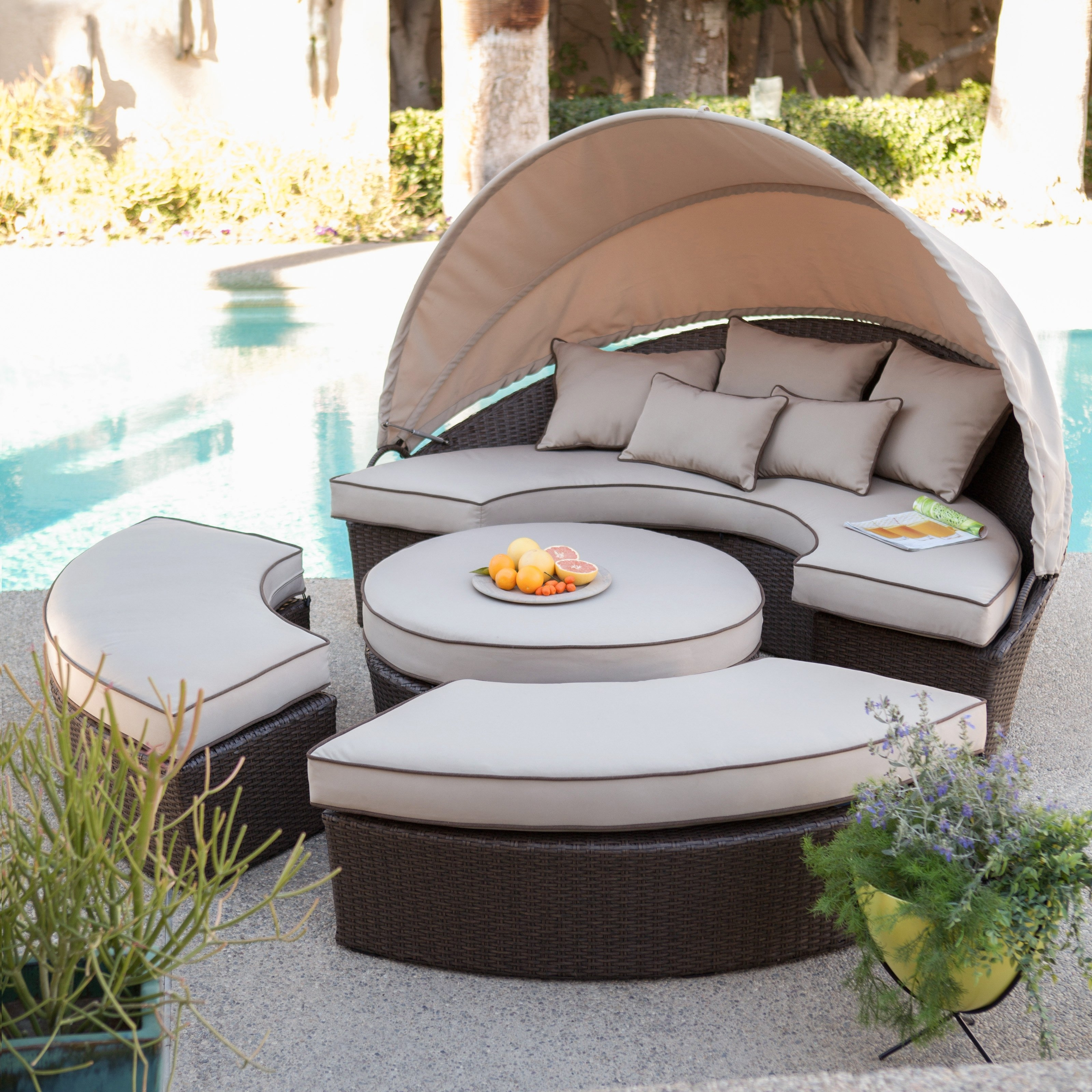 Hayneedle Pertaining To Newest Outdoor Sofas With Canopy (View 5 of 20)