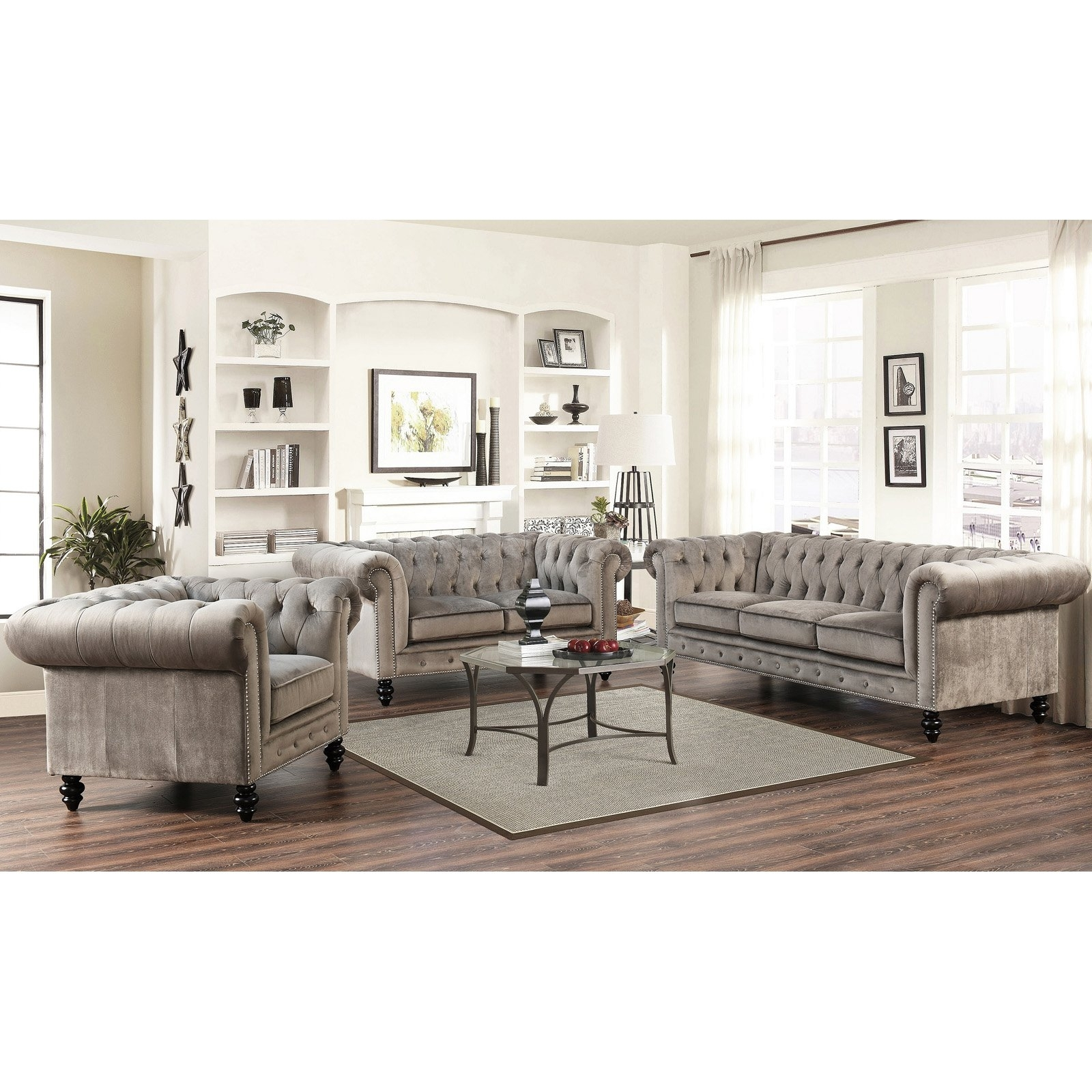 Hayneedle Pertaining To Velvet Sofas (View 7 of 20)