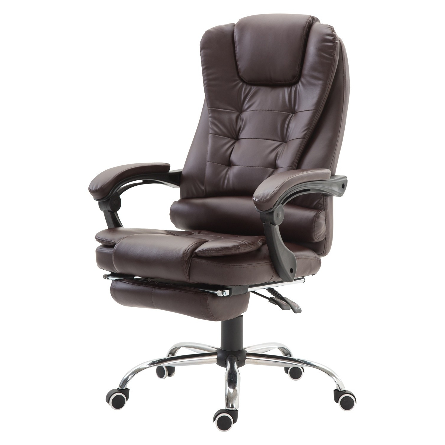 Heavy Duty Executive Office Chairs Inside Well Known Homcom Executive Style Reclining Office Napping Chair Pu Leather W (View 8 of 20)