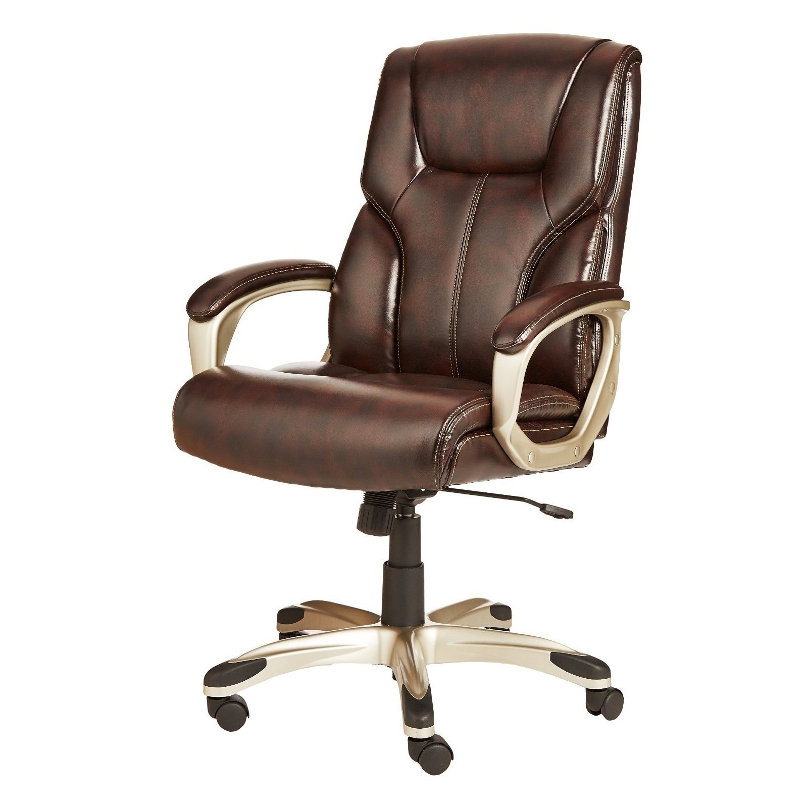 High Back Executive Reclining Office Chair – Brown – Grand Finder With Regard To Well Known Executive Office Chairs Reclining (View 8 of 20)