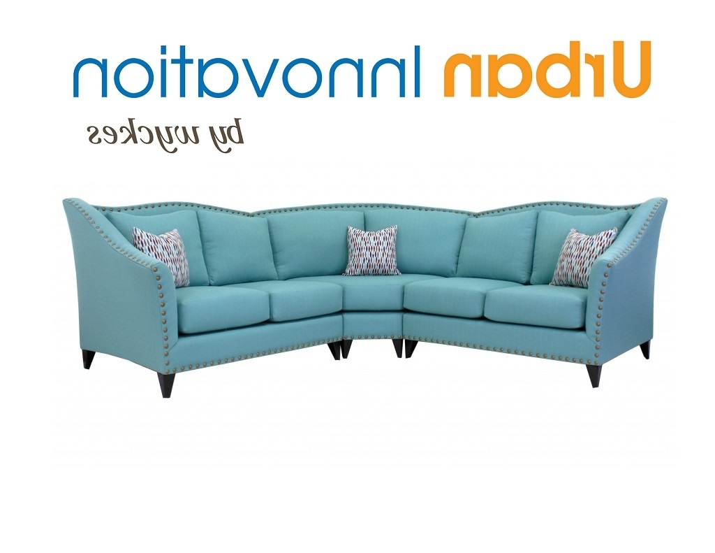 High Back Nailhead Trim Curved Back Sectional Sofa Throughout Current Sectional Sofas With High Backs (View 8 of 20)