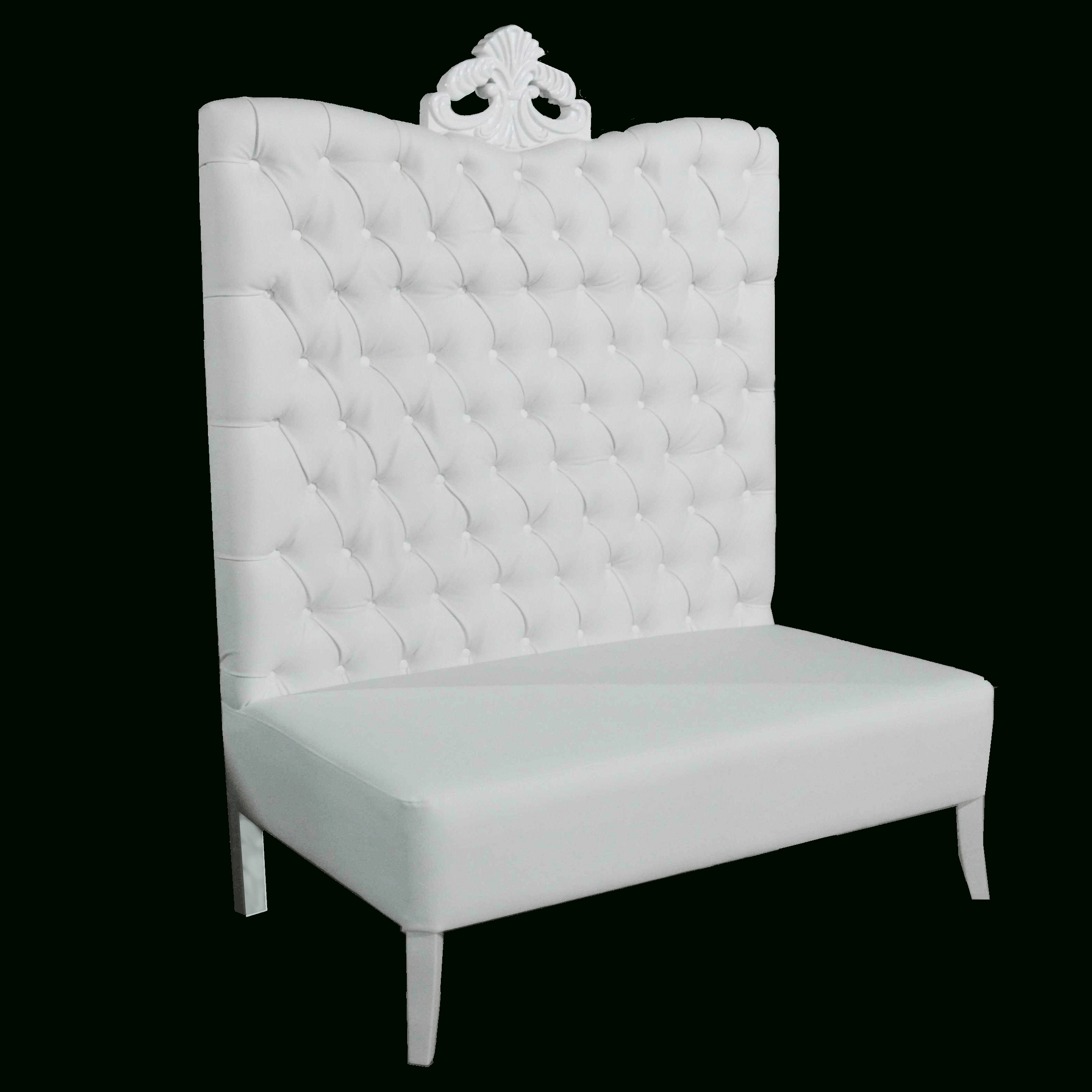 High Back Sofas And Chairs Inside 2019 White Luxe Line High Back Sofa – Luxe Event Rental (View 8 of 20)