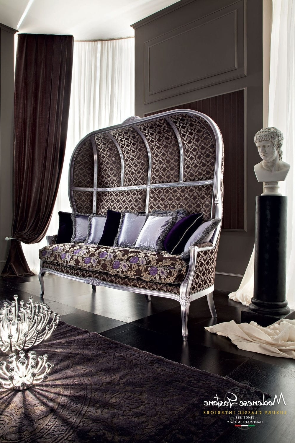 High Back Sofas And Chairs Pertaining To Trendy Classic Sofa / Fabric / 3 Seater / High Back – Casanova – Modenese (View 19 of 20)