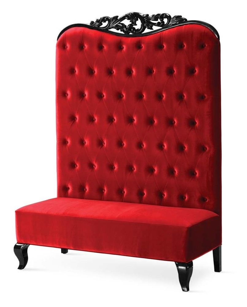 High Back Sofas And Chairs With Regard To Preferred Chaise High Back Sofa – Double High Back Chair – Adonis Ii Red (View 14 of 20)