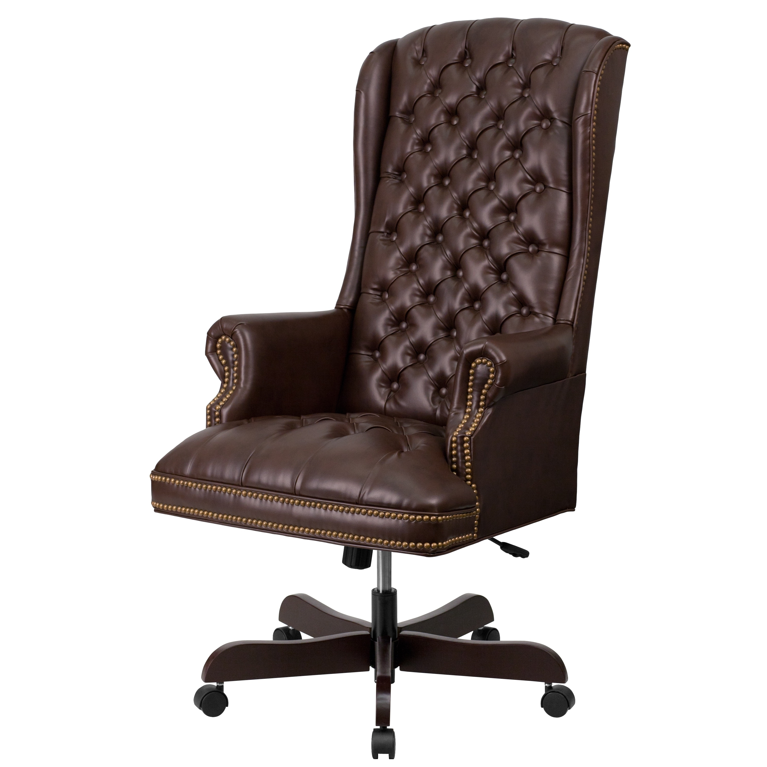High Back Traditional Tufted Leather Executive Office Chair – Free Inside Well Known Genuine Leather Executive Office Chairs (View 6 of 20)