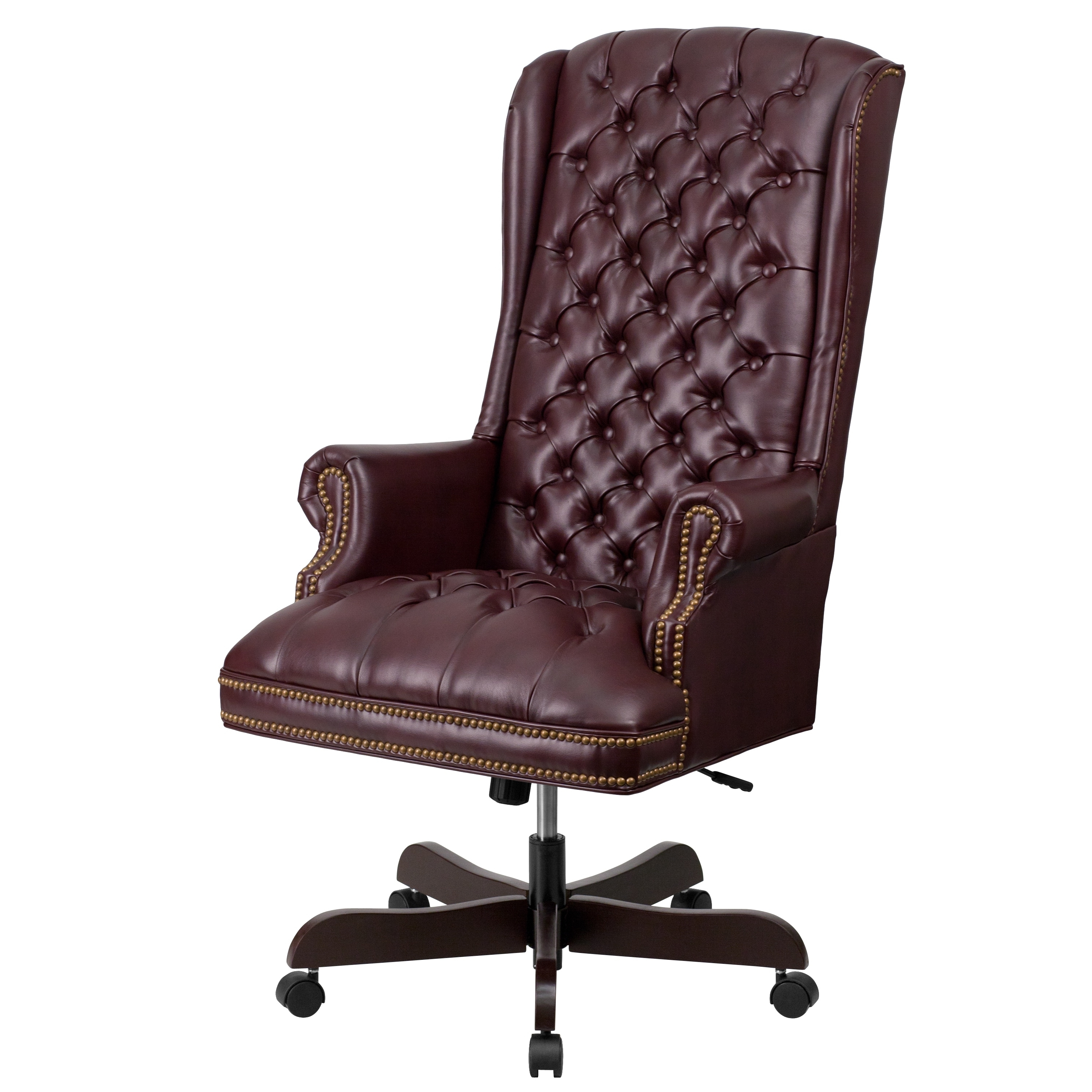 High Back Traditional Tufted Leather Executive Office Chair – Free With Popular Unique Executive Office Chairs (View 2 of 20)