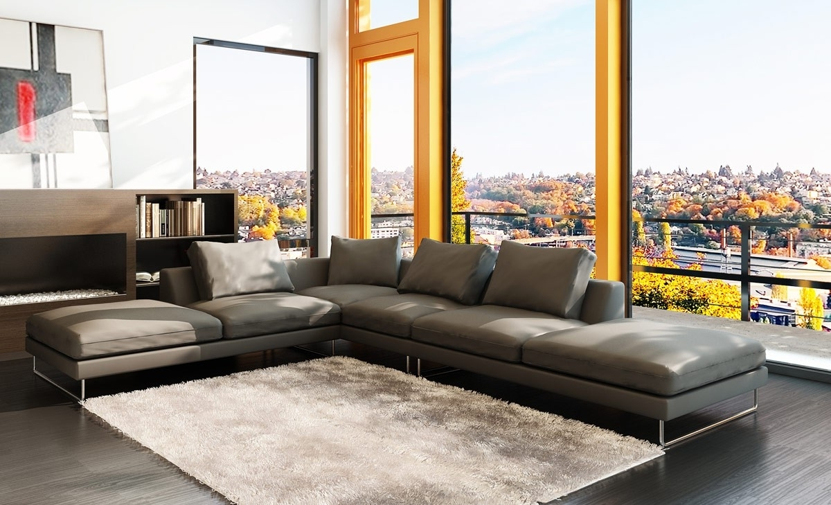 High End Leather Sectional Sofas In Popular Repair A Hole In A Modern Leather Sectional Art Decor Homes (View 7 of 20)
