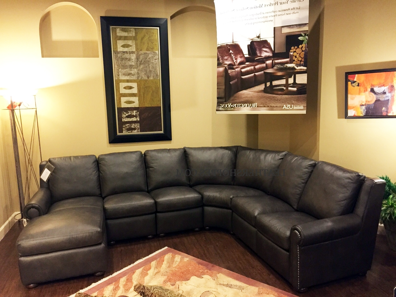 High End Leather Sectional Sofas Within Well Known Bradington Young Luxury Motion Furniture Made In The Usa (View 8 of 20)
