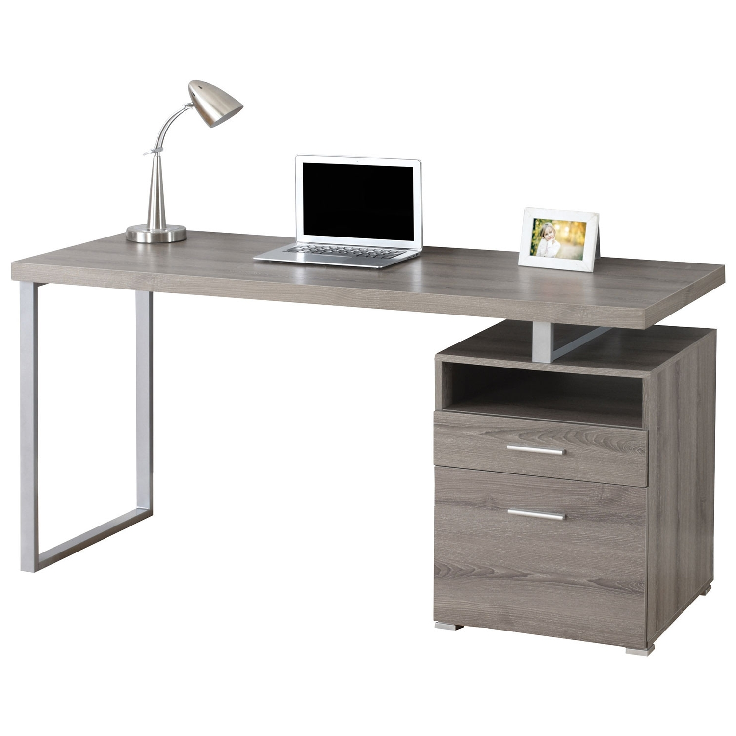 Hollow Core Computer Desk – Dark Taupe : Desks & Workstations With Well Liked Computer Desks At Best Buy (View 11 of 20)