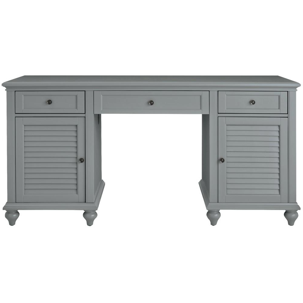 Home Decorators Collection Hamilton Grey Desk 9786600270 – The With Most Recently Released Grey Computer Desks (View 2 of 20)