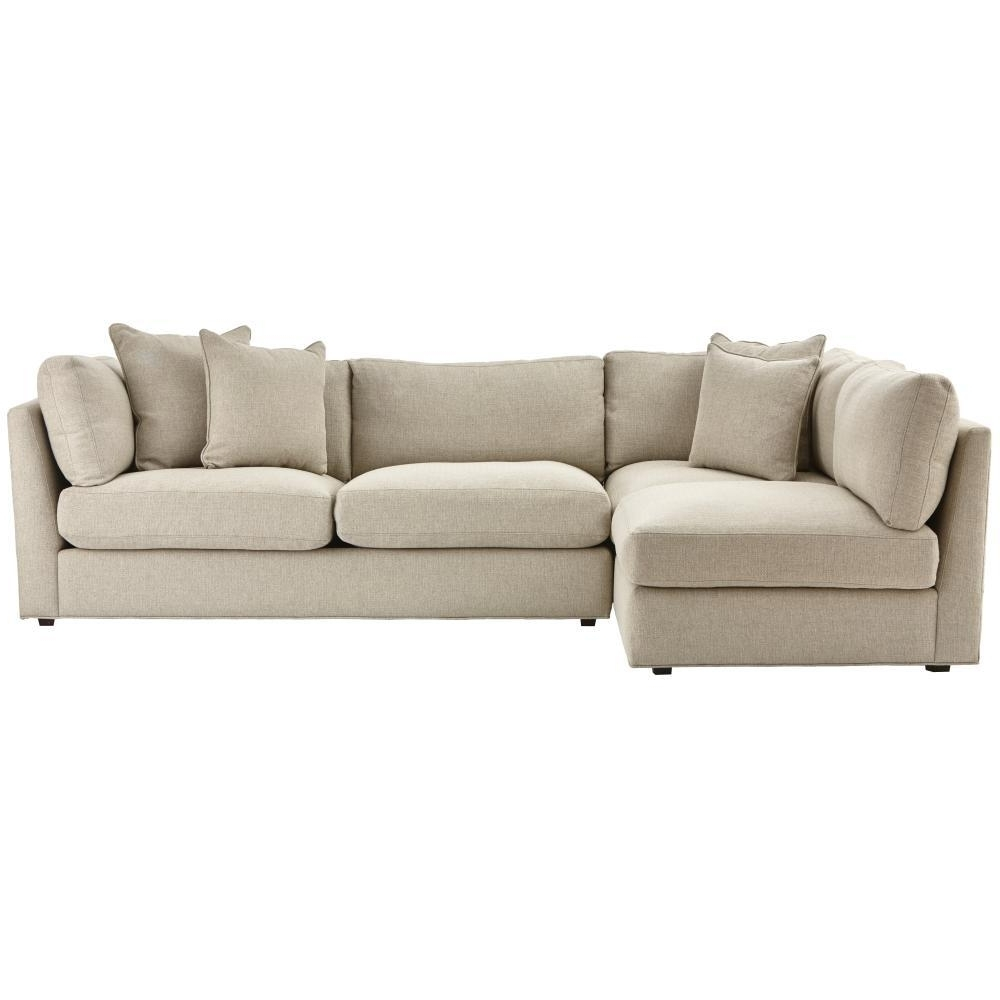 Home Depot Sectional Sofas Within 2019 Home Decorators Collection Griffith Sugar Shack Putty Sectional (View 14 of 20)