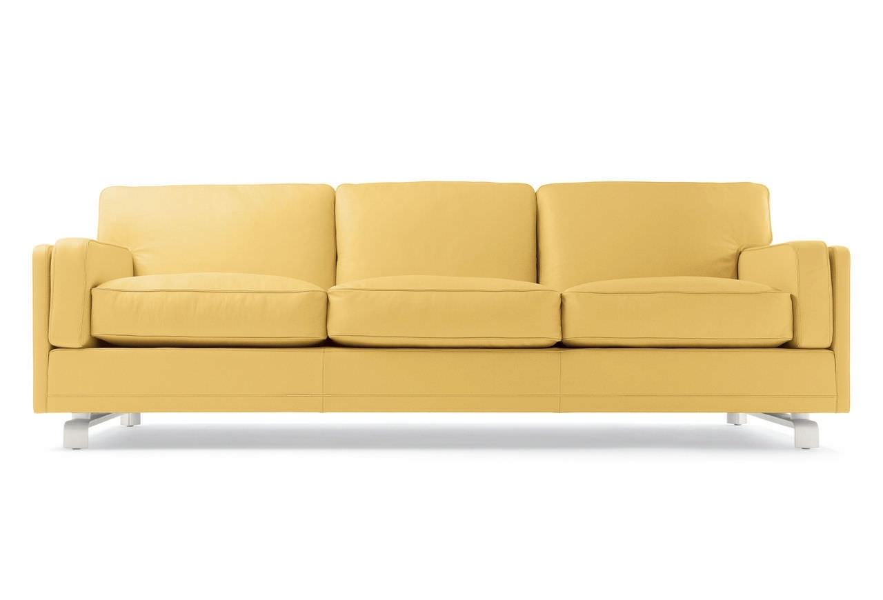 Home Design : Trendy The Contemporary Cream Colored Leather Sofa In Favorite Cream Colored Sofas (View 14 of 20)