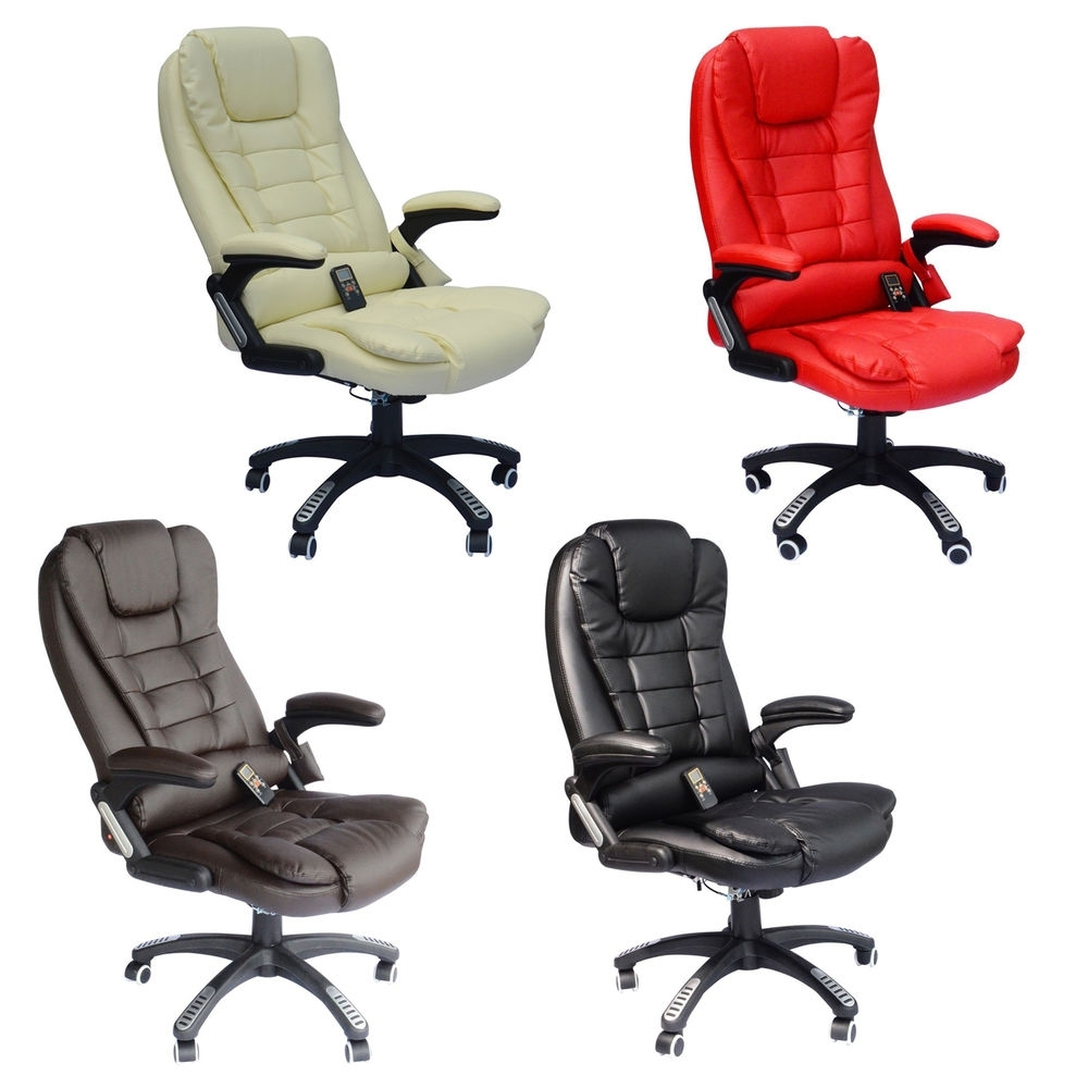 Home Office Computer Desk Massage Chair Executive Ergonomic Heated In Most Popular Executive Office Chairs With Shiatsu Massager (View 10 of 20)
