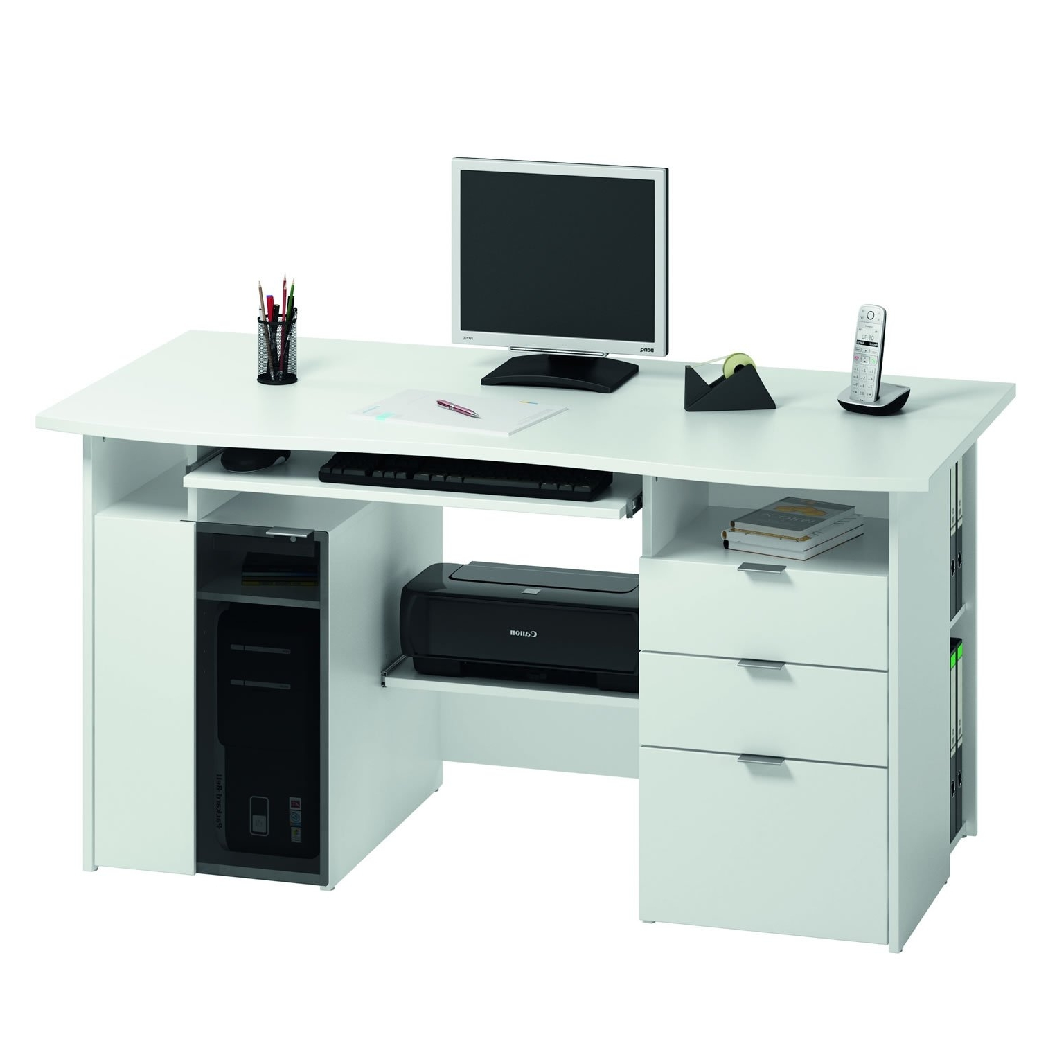 Home Office Computer Desks Design Your Fine Decorating Ideas For Regarding Well Known Japanese Computer Desks (Gallery 14 of 20)