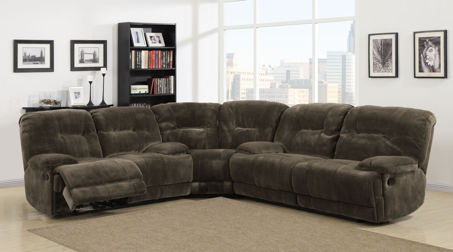 Homelegance Geoffrey Reclining Sectional Sofa Set – Chocolate Intended For Well Known Plush Sectional Sofas (View 3 of 20)