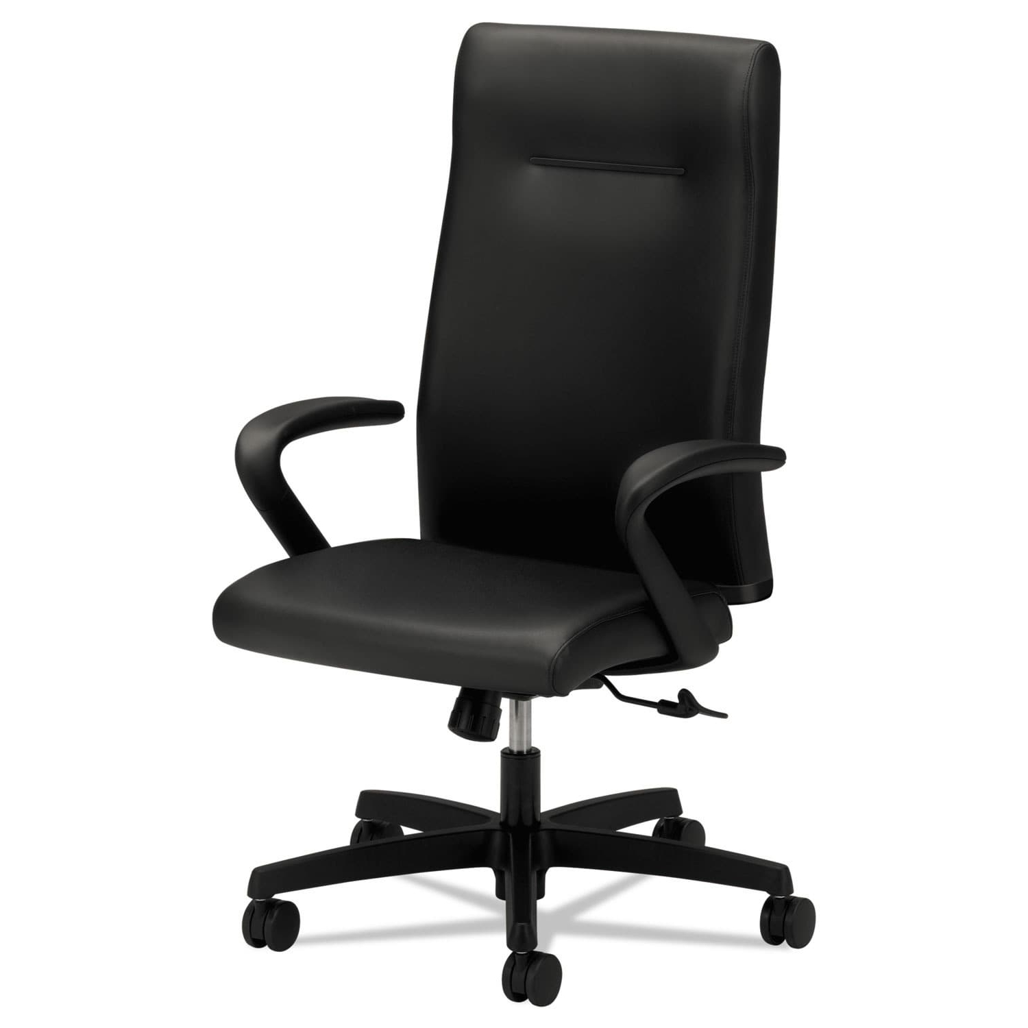 Hon Executive Office Chairs For Most Popular Hon Ignition Series Executive High Back Chair, Black Leather (View 7 of 20)