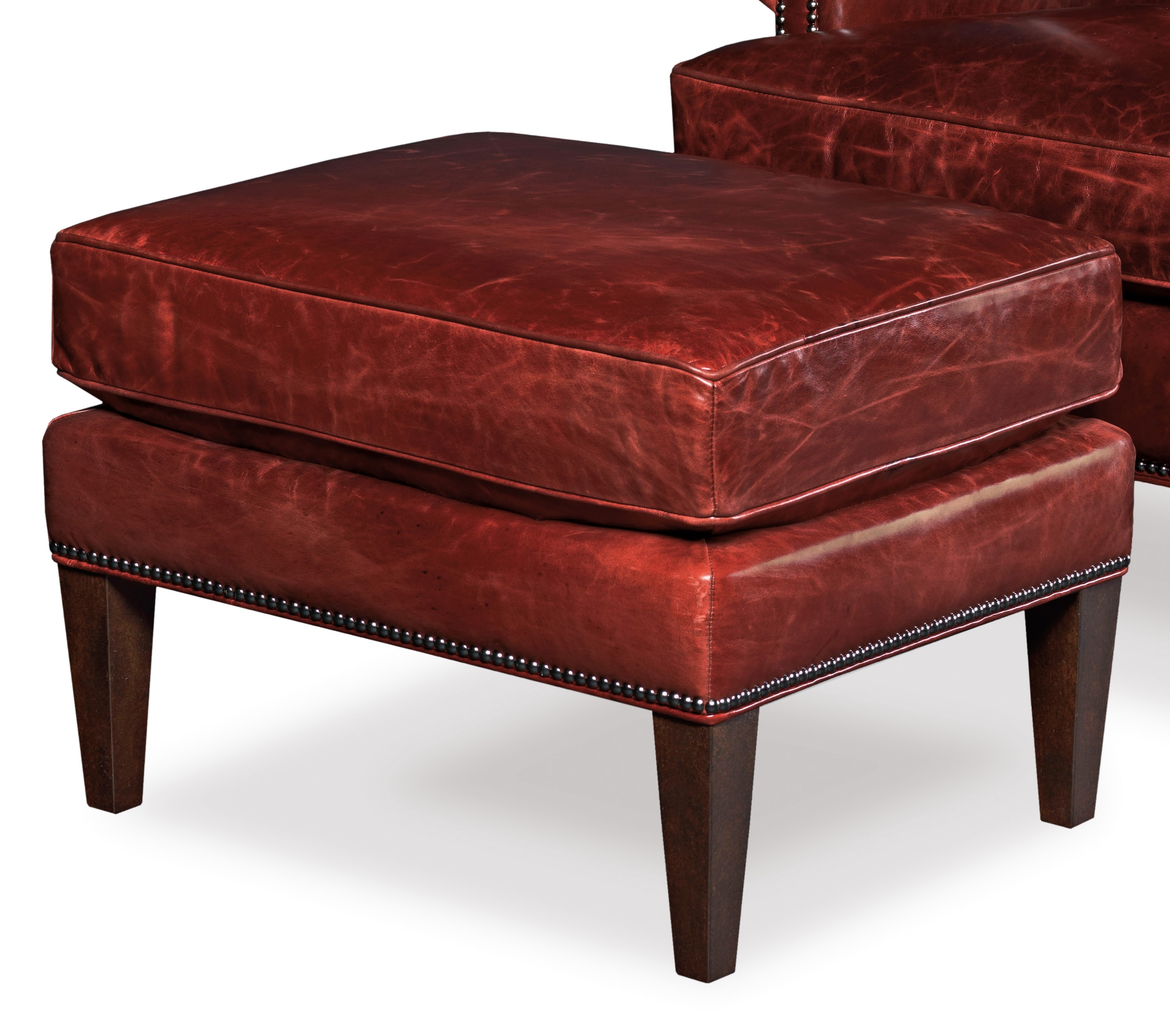 Hooker Furniture Club Chairs Ottoman With Nailhead Trim – Olinde's With Regard To Favorite Chairs With Ottoman (View 18 of 20)
