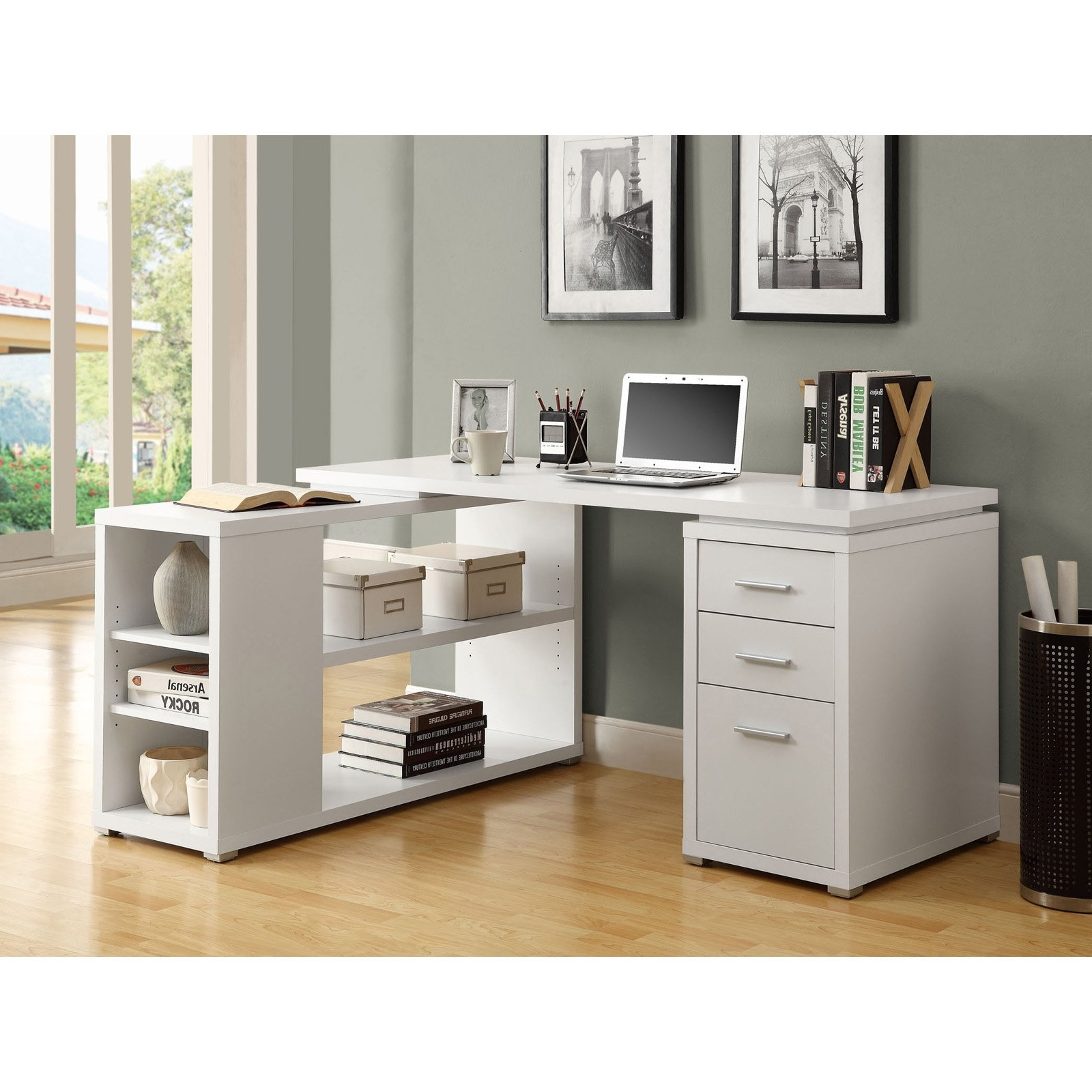 Hudson L Shaped Desk – White (View 14 of 20)