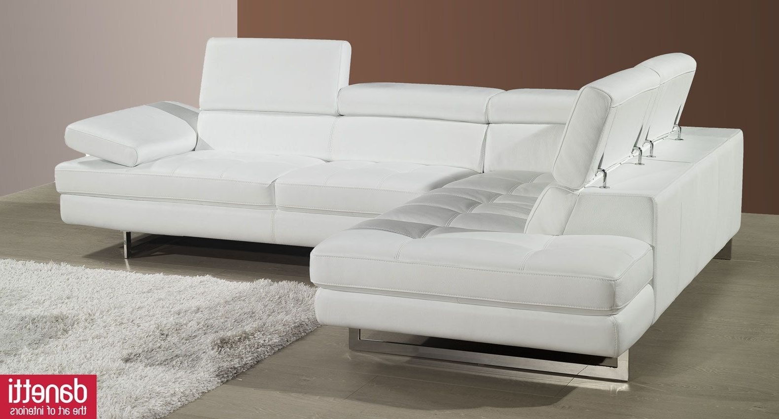 Idi In White Leather Corner Sofas (View 4 of 20)