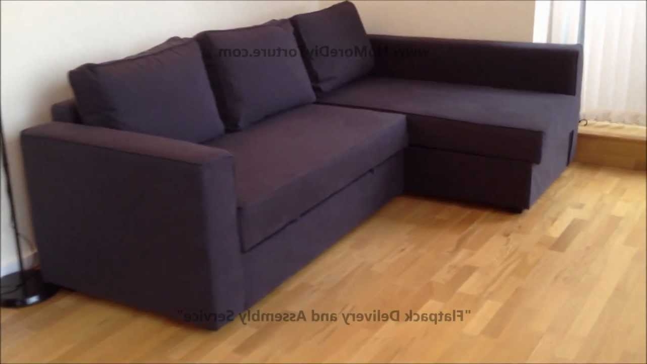 Ikea Corner Sofas With Storage Pertaining To Best And Newest Ikea Manstad Corner Sofa Bed With Storage – Youtube (View 11 of 20)