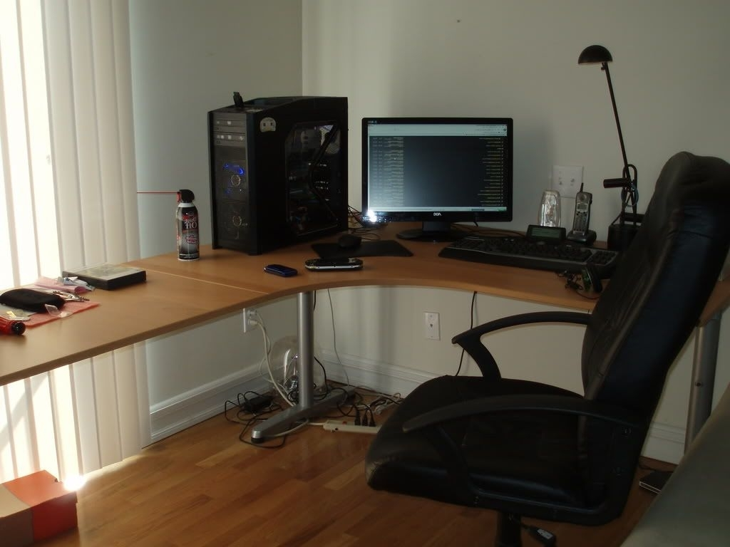 Ikea Galant Computer Desks Intended For Most Current Furniture: Ikea Galant Desk With Ikea Rising Desk Also (Gallery 6 of 20)