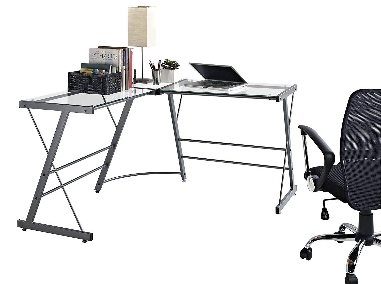 Ikea Glass Computer Desks Regarding Best And Newest Office Desk : Ikea Office Storage Glass Computer Desk Ikea U (View 11 of 20)