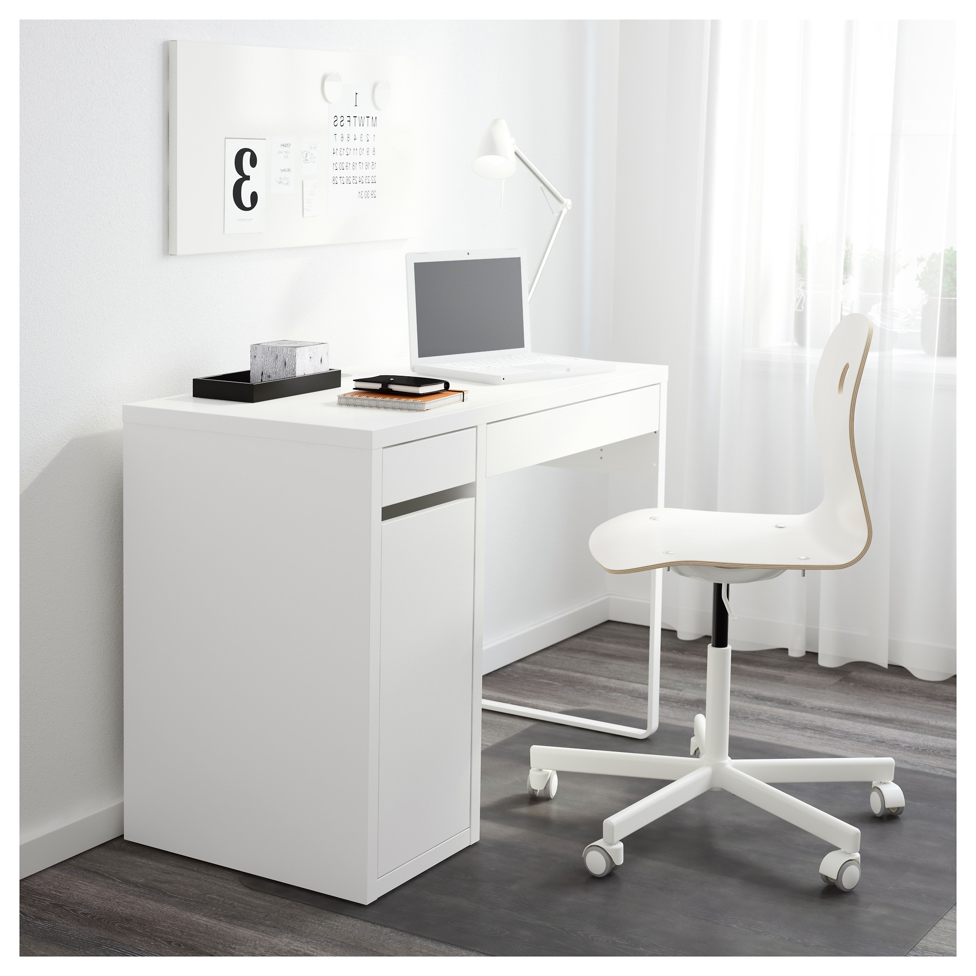Ikea Mn Computer Desks Regarding Most Current Micke Desk – White – Ikea (Gallery 3 of 20)