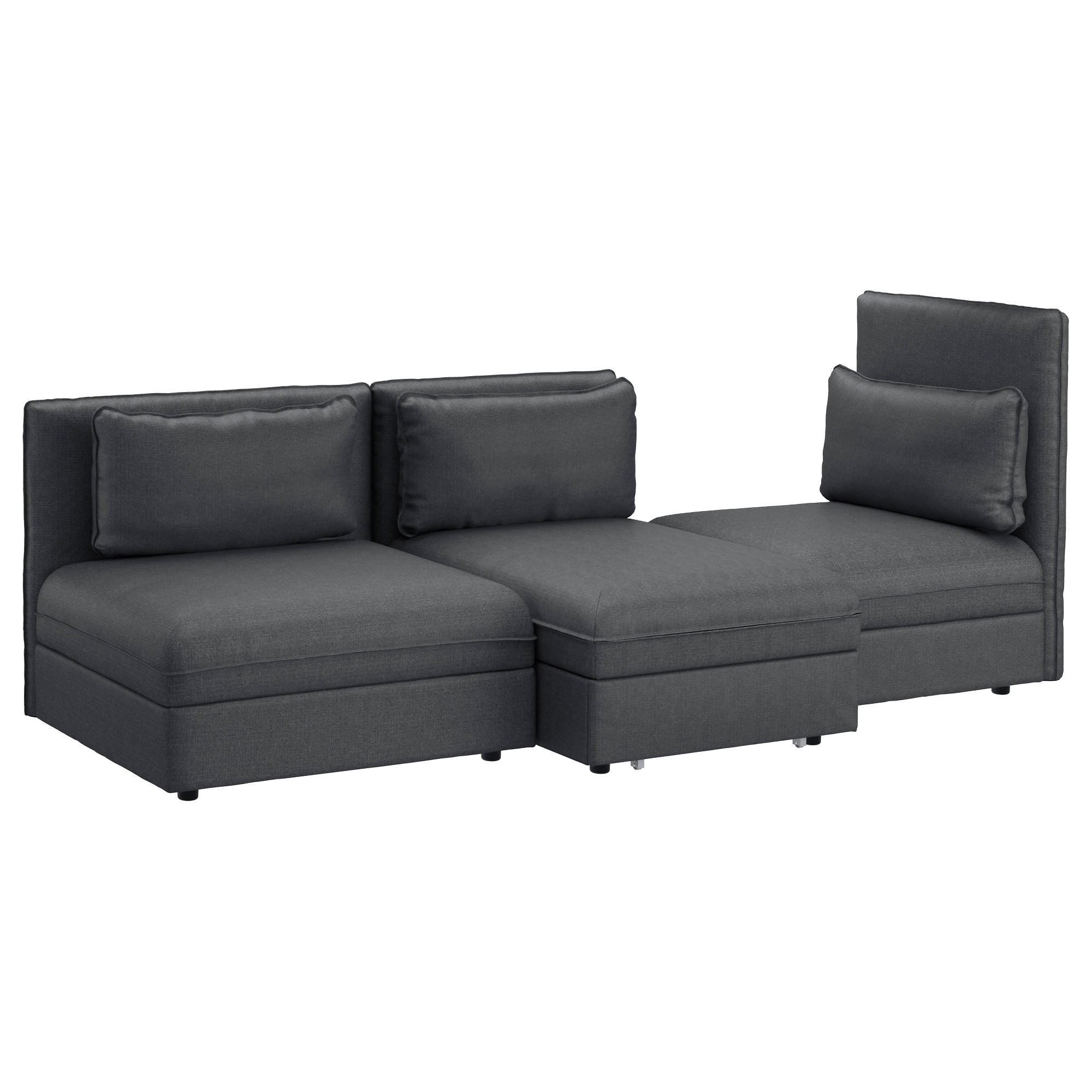Ikea Sectional Sleeper Sofas Within Famous Vallentuna Sleeper Sectional, 3 Seat – Hillared Dark Gray – Ikea (View 10 of 20)