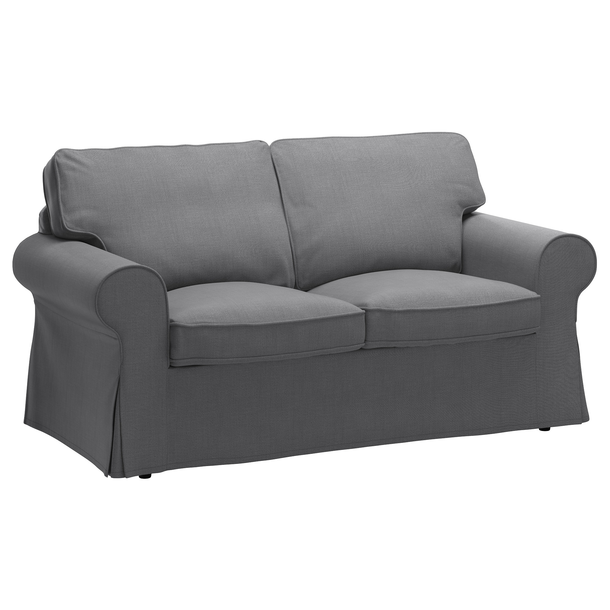 Ikea Two Seater Sofas With Trendy Ektorp Two Seat Sofa Nordvalla Dark Grey – Ikea (View 7 of 20)