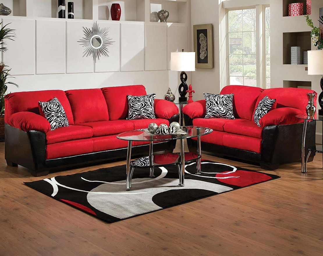 Implosion Red Sofa & Loveseat (View 6 of 20)