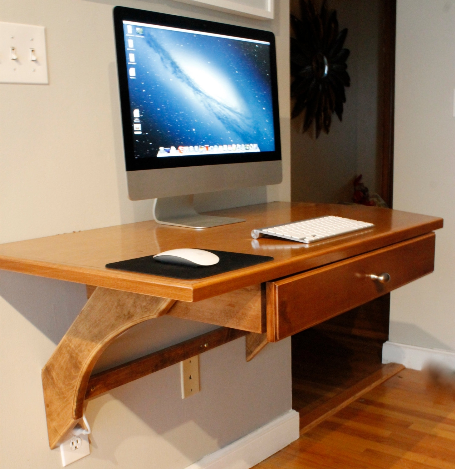 Impressive Wall Desk Ideas Fantastic Office Furniture Decor With Intended For 2019 Wall Computer Desks (View 8 of 20)
