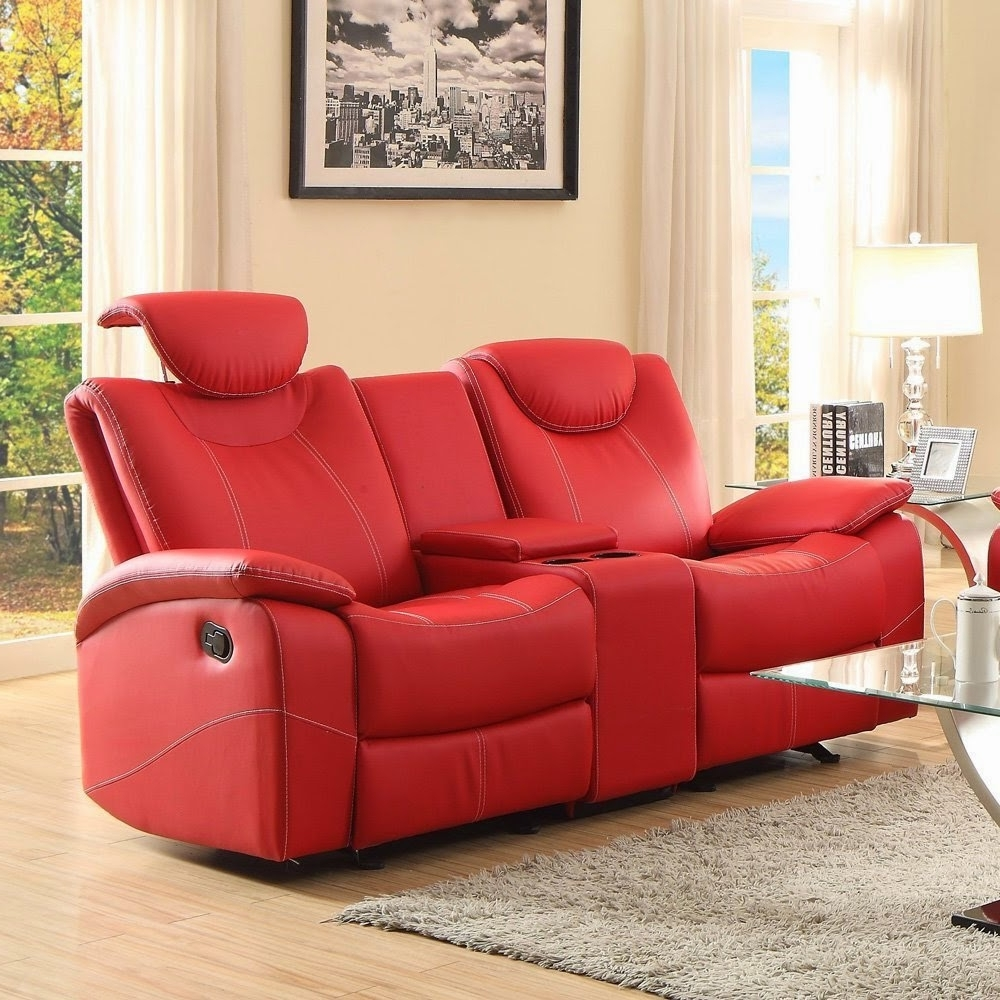 Interior : Double Red Leather Reclining Sofa Interior Sleeper In Best And Newest Red Leather Couches And Loveseats (Gallery 17 of 20)
