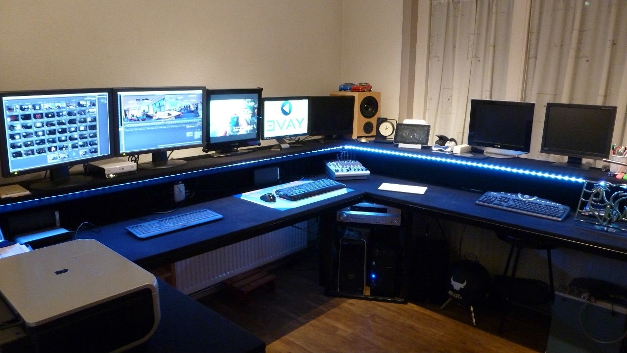 Interior – Video Editing Desk (View 19 of 20)