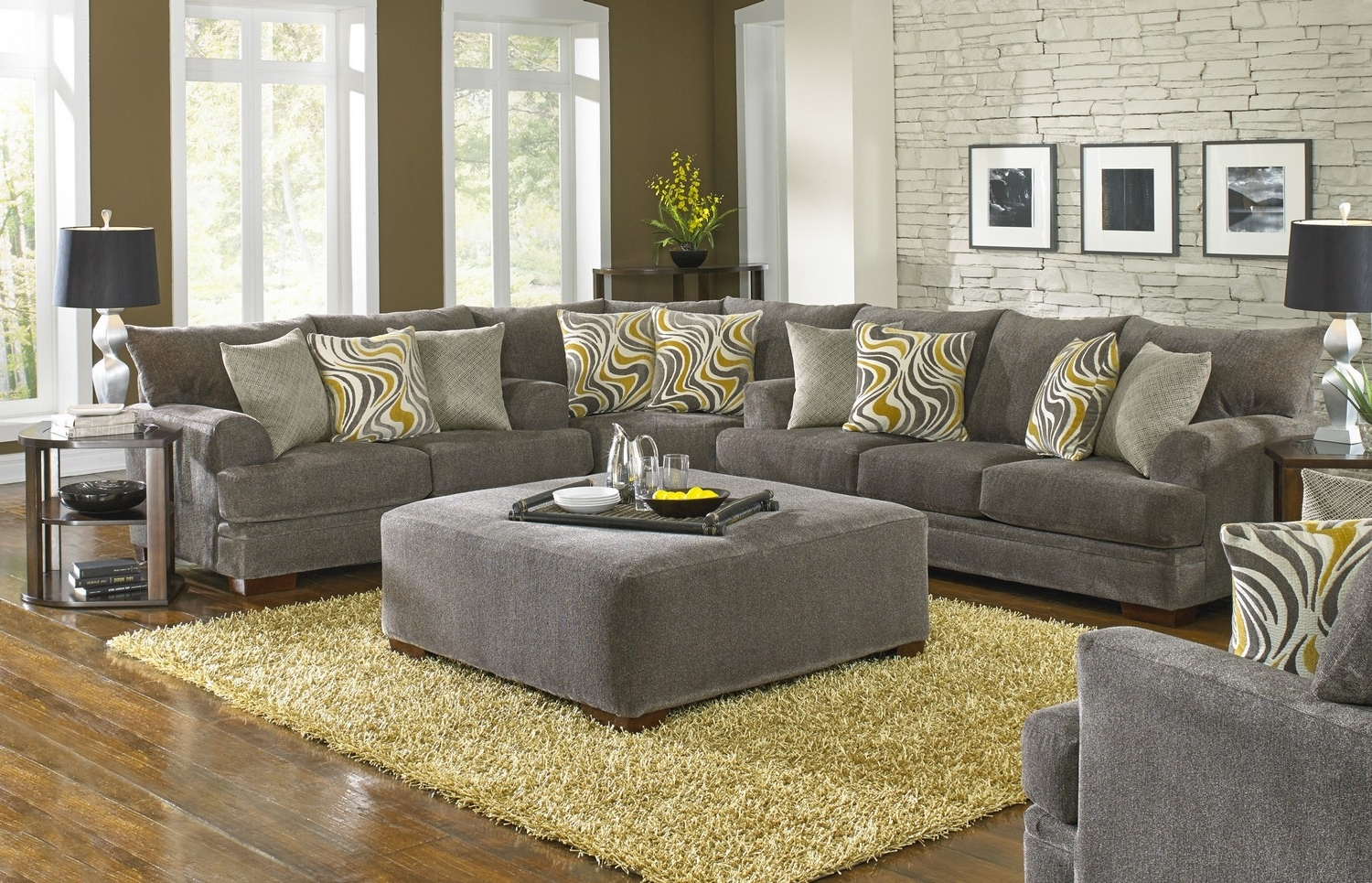Jackson Crompton Sofa Sectional Set Pewter Jf 4462 Sect For Well Known Dayton