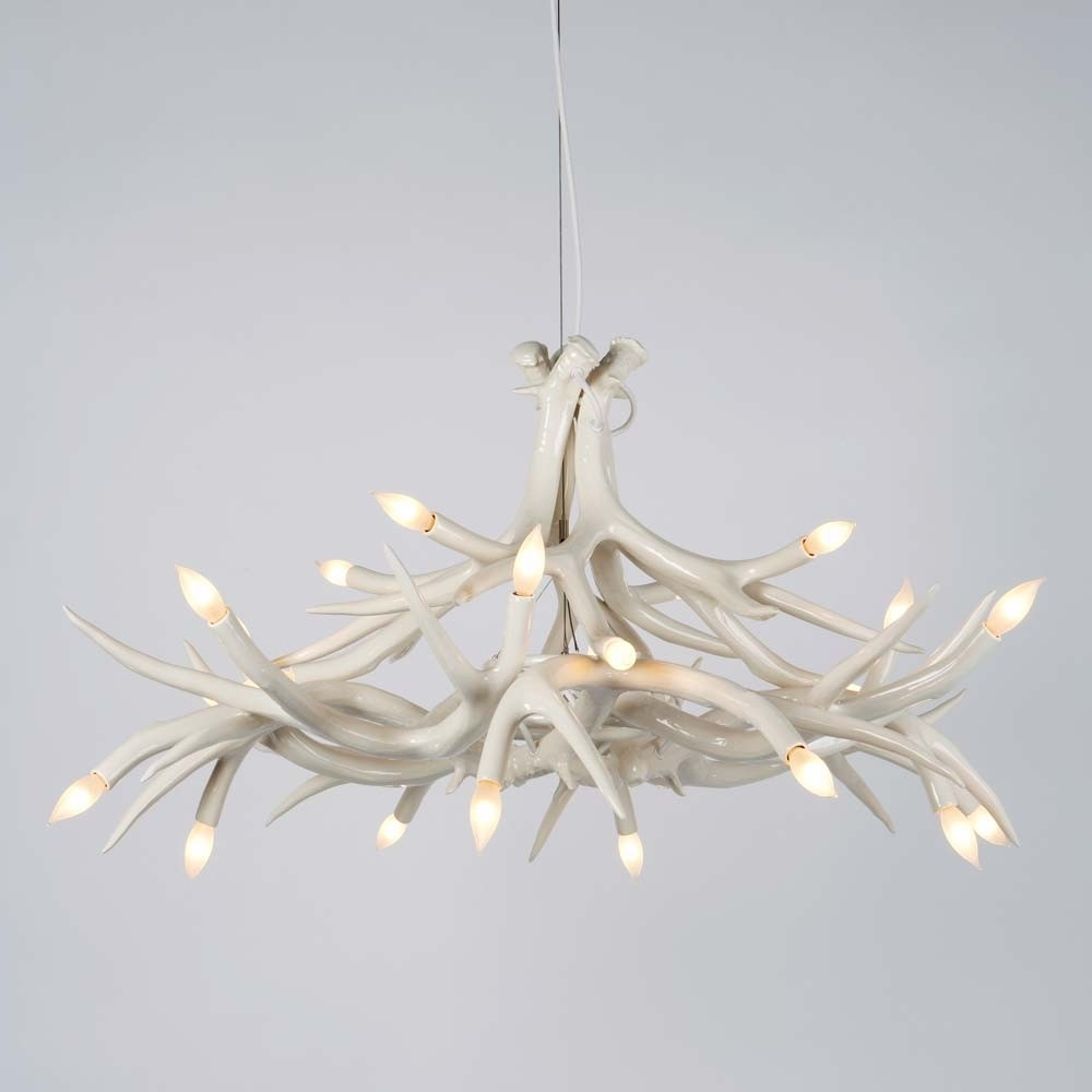 Jason Miller Antler Regarding White Antler Chandelier (View 7 of 20)