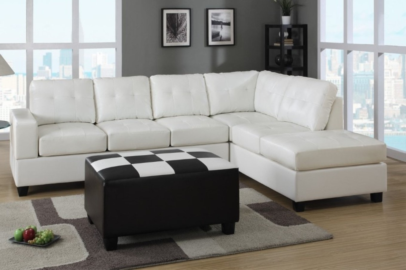 Jennifer Convertibles Sectional Sofas Regarding Famous White Color Modern Leather Sectional Sleeper Sofa Bed With Wooden (View 18 of 20)