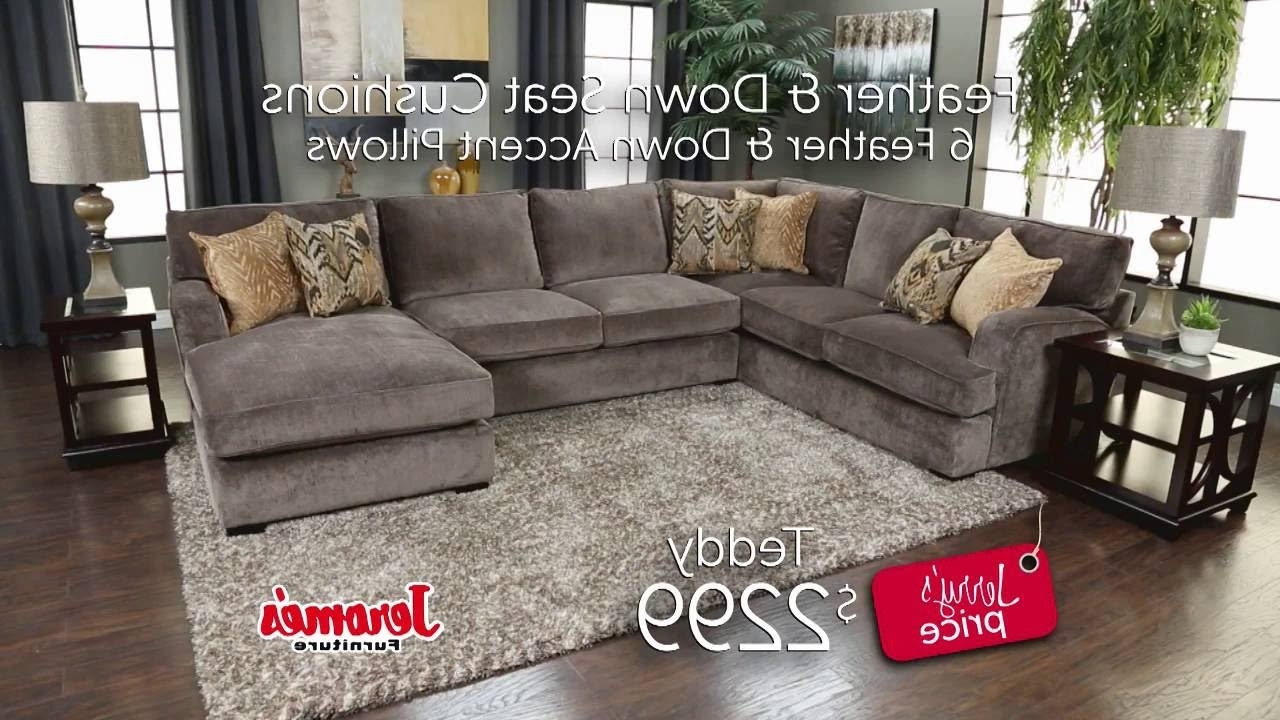 Jerome's Sectional Sofas In Most Recently Released Jerome's Furniture – Teddy Sectional – Youtube (Gallery 1 of 20)