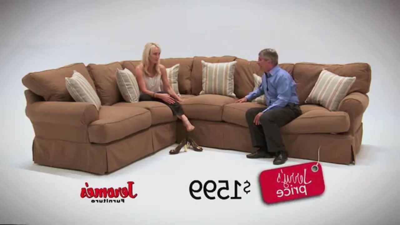 Jerome's Sectional Sofas Regarding Most Popular Jerome's Furniture Classic Slipcover Sectional – Youtube (Gallery 12 of 20)