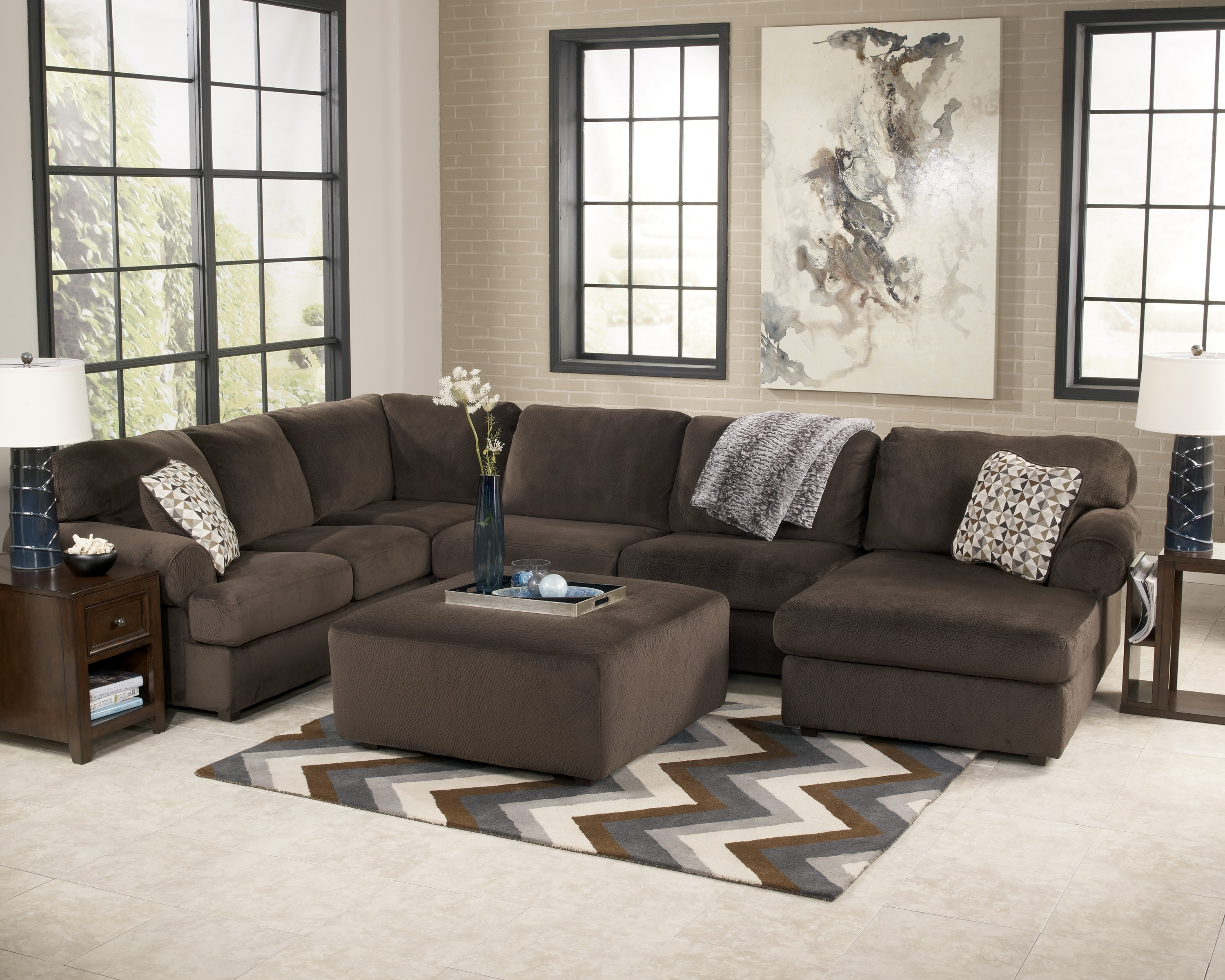 Jessa Place – Chocolate Living Room Set (View 16 of 20)