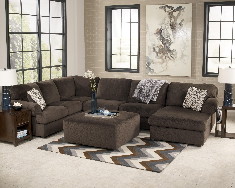 Jessa Place – Chocolate Living Room Set (View 8 of 20)