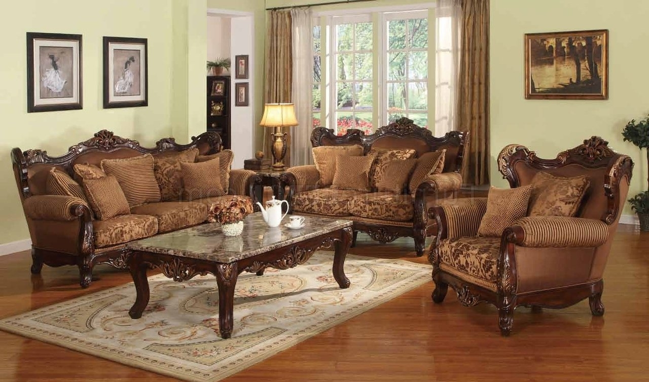 Jessica Traditional Sofa In Fabric W/optional Items For Recent Traditional Fabric Sofas (Gallery 14 of 20)
