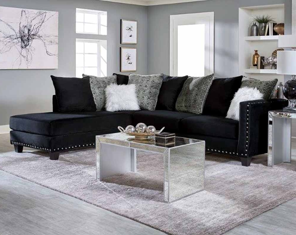 Jet Black 2 Pc. Sectional Sofa (Gallery 7 of 20)