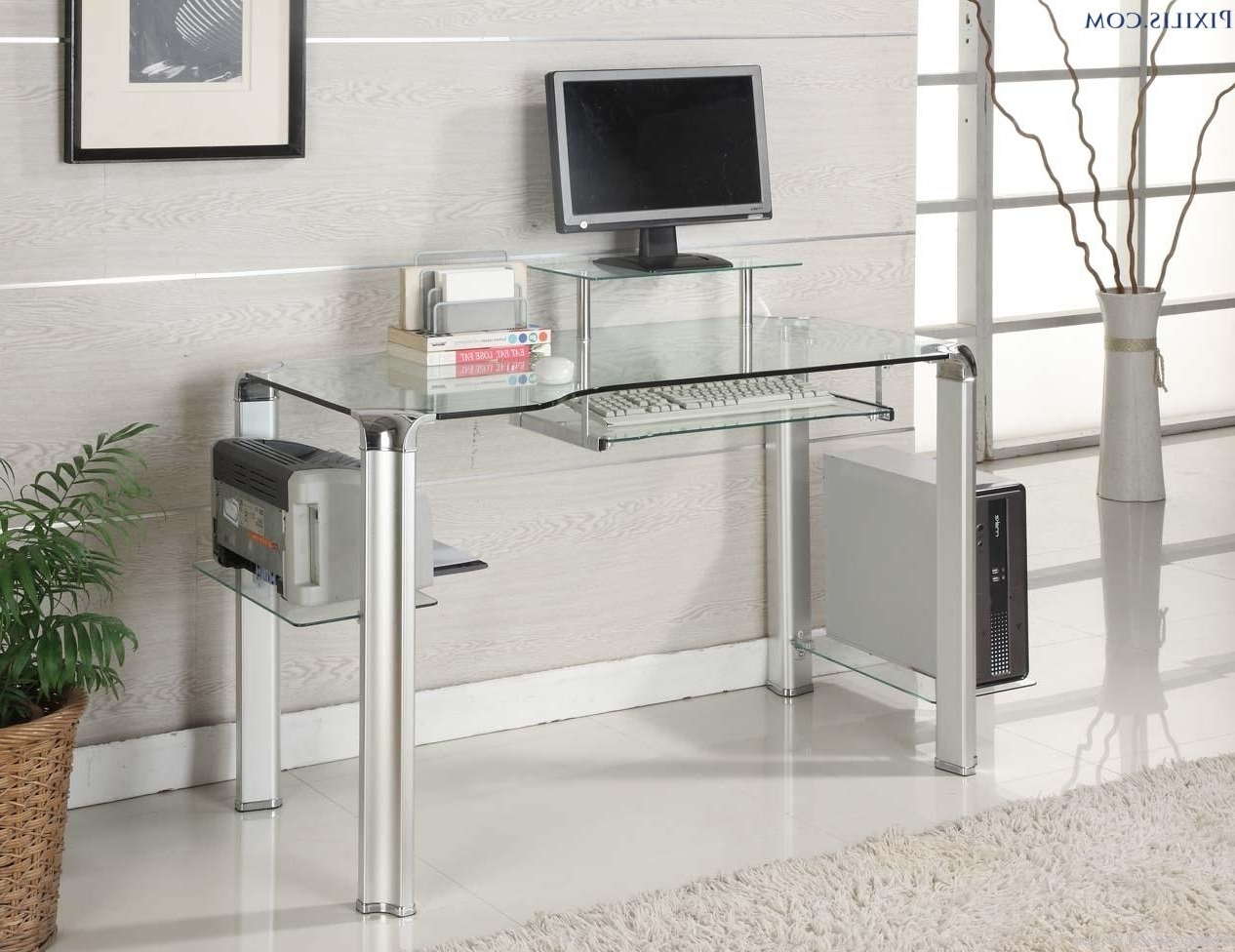 John Lewis Corner Computer Desks Inside Well Known Glass Chrome Desks Home Office • Desk Ideas (View 8 of 20)