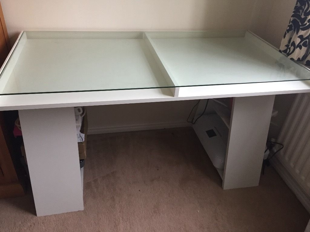 John Lewis Corner Computer Desks Intended For Well Liked Finish Contemporary Office Desk W Glass Top Pictures On Marvellous (Gallery 6 of 20)