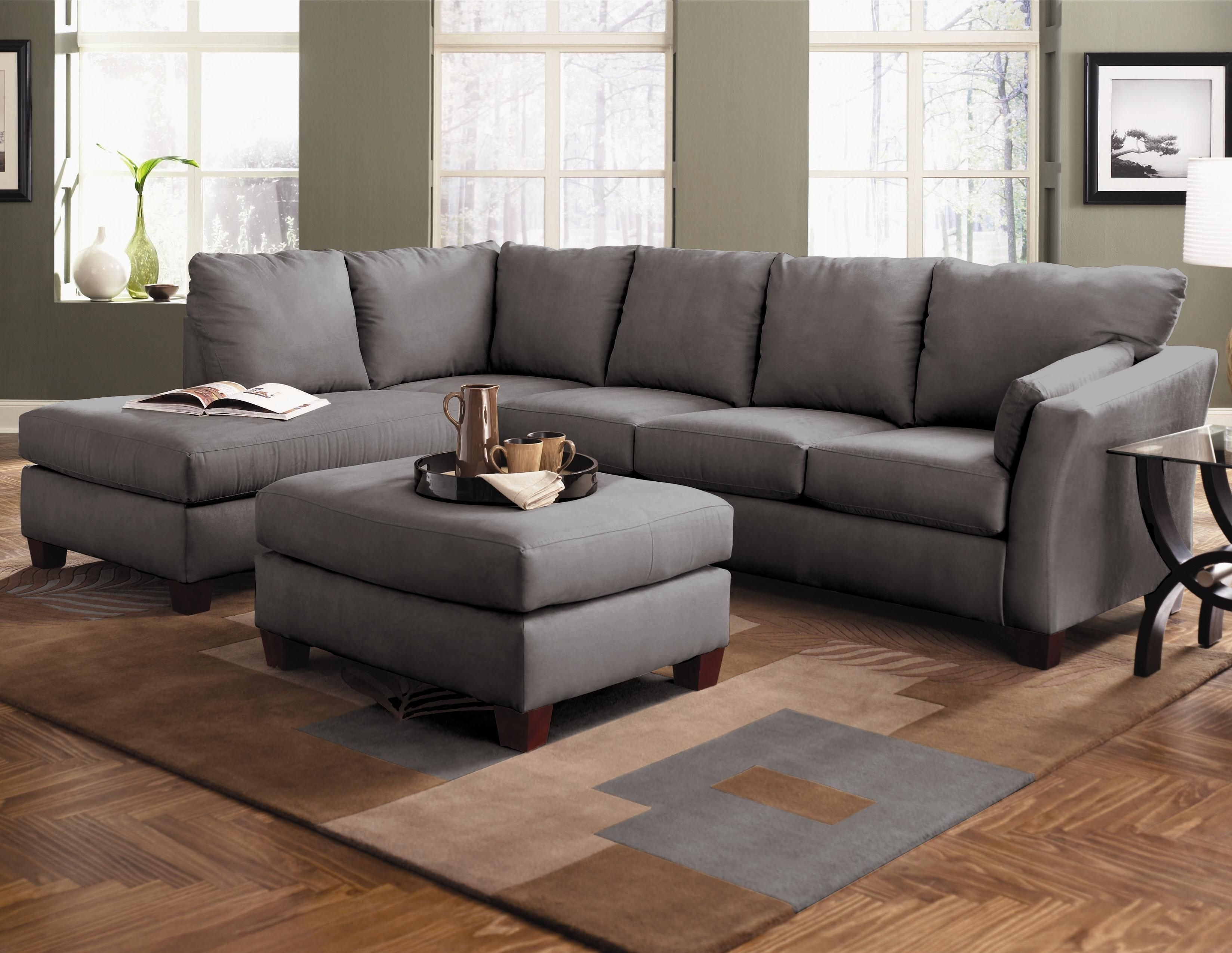 Johnny Janosik Sectional Sofas With Trendy Drew Two Piece Sectional Sofa With Left Arm Chaiseklaussner (Gallery 1 of 20)