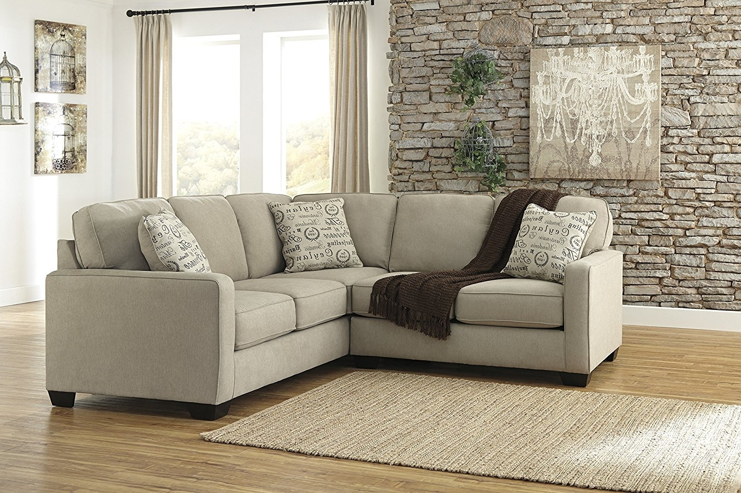 Johnny Janosik Sectional Sofas Within Well Known Ashley Furniture Sectional Microfiber — Cabinets, Beds, Sofas And (View 13 of 20)
