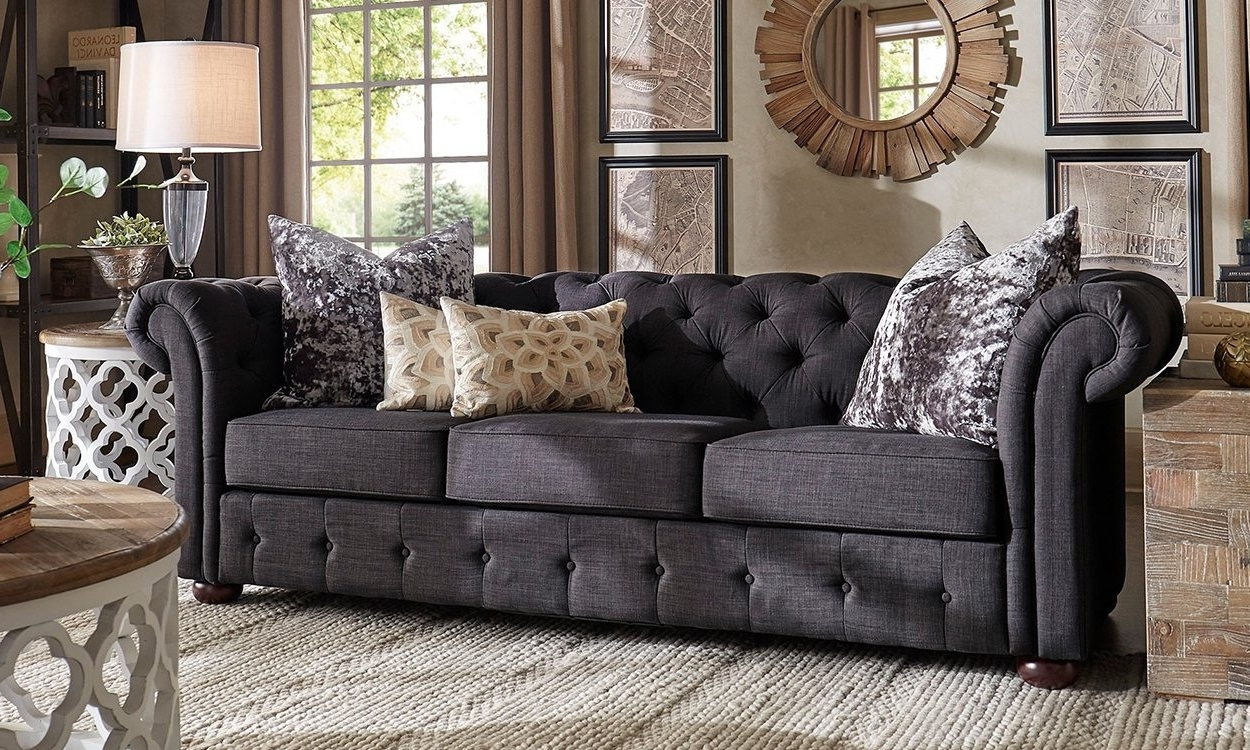 Joplin Mo Sectional Sofas With Most Recent Furniture : Sofa With Chaise Leather Grey Sofa In Family Room (View 12 of 20)