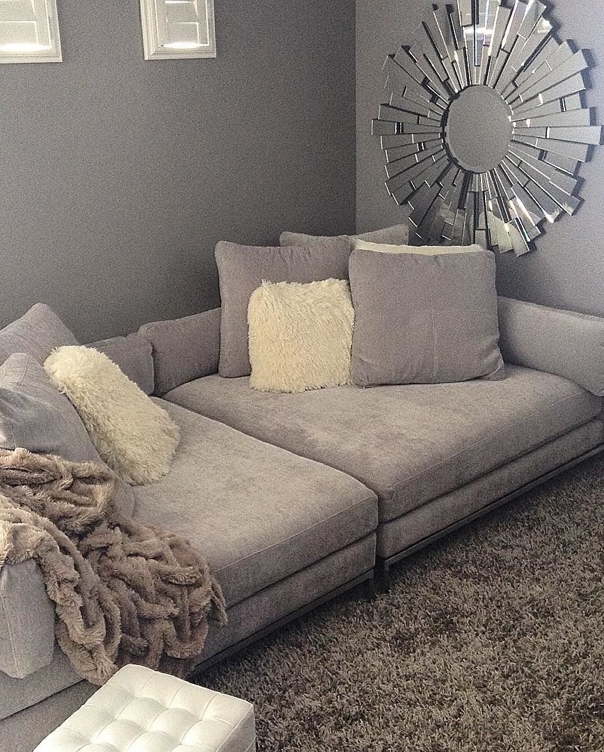 Justmemyselfandi002's Living Room Makes Lounging Extra Luxurious Throughout Widely Used Wide Sectional Sofas (Gallery 5 of 20)