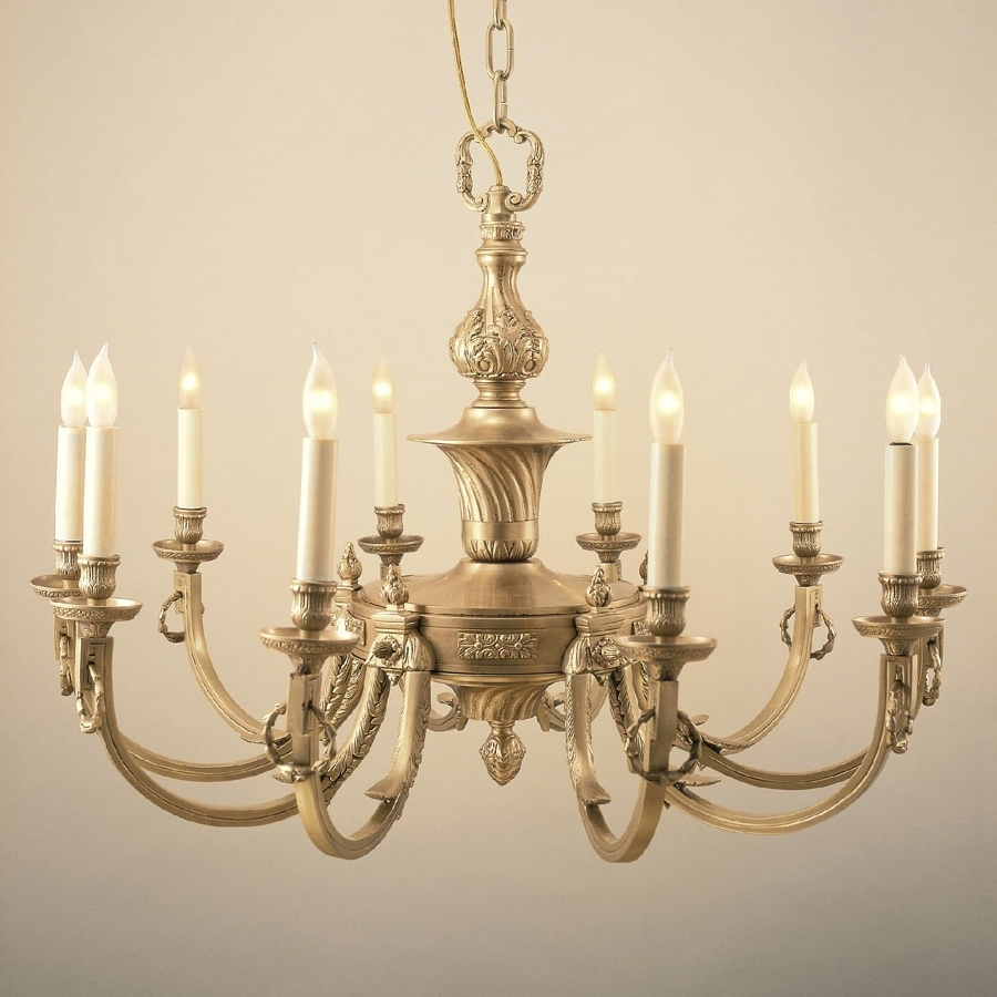 Jvi Designs 570 Traditional 32 Inch Diameter 10 Candle Antique Brass Pertaining To Latest Traditional Brass Chandeliers (View 2 of 20)